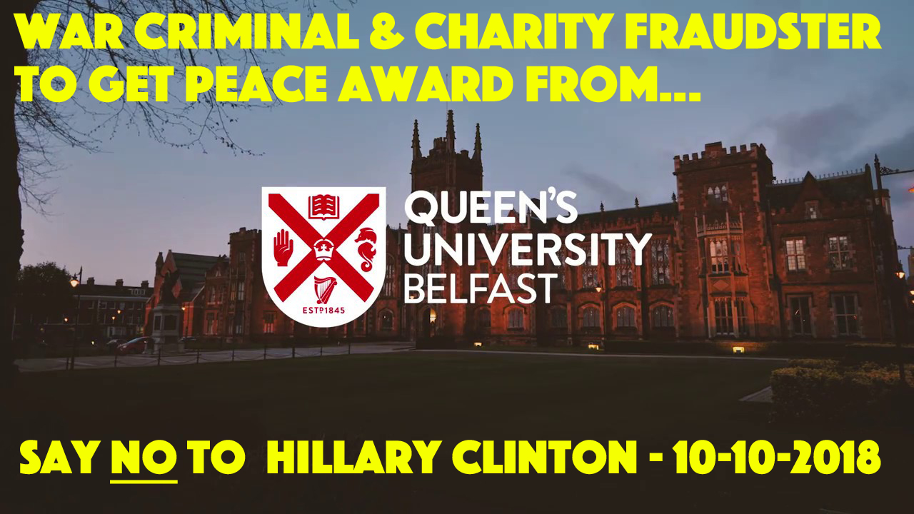 'WAR CRIMINAL' & 'GLOBAL GRIFTER' gets QUEEN'S 'Peace and Reconciliation AWARD…